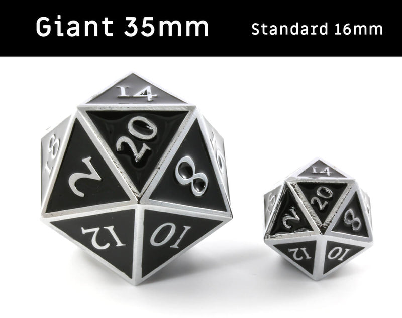 Giant d20 dice for D&D