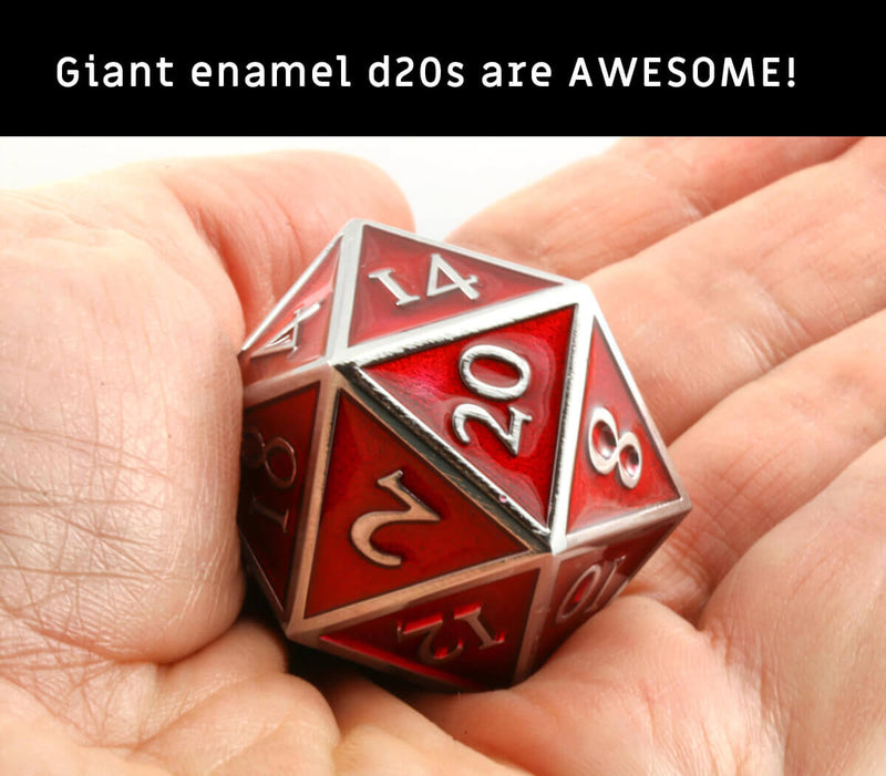 Awesome dice D&D Giant d20