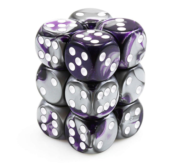 Gemini Purple and Steel Dice