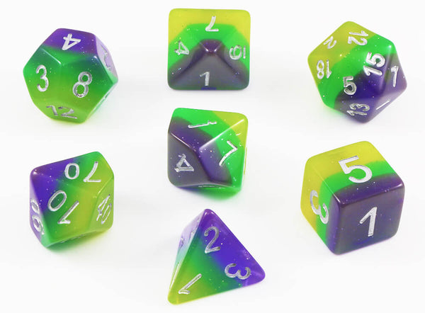 Rainbow Blue Illusion Dice