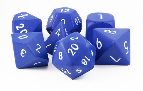 Giant Foam RPG Dice Blue