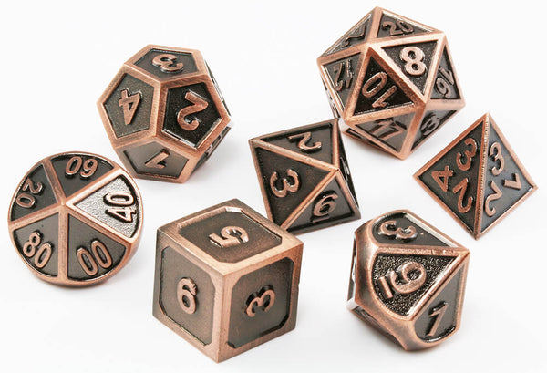 Copper D&D Dice