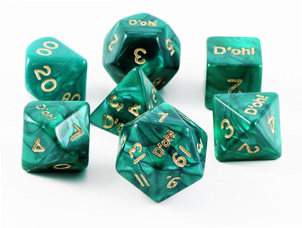 D'oh! Dice Pearl Green