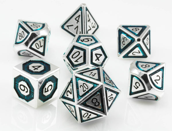 Assassin Metal Dice Teal