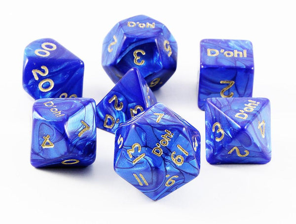 D'oh! Dice Pearl Blue