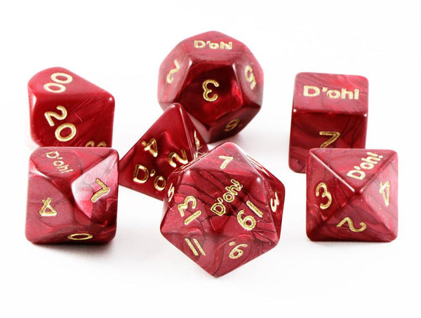 D'oh! Dice Pearl Red