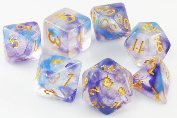 Unicorn Dice (Midnight Fantasy) RPG Role Playing Game Dice Set