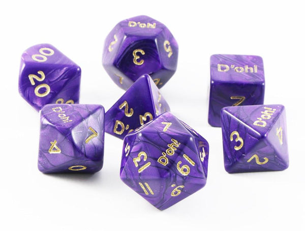 D'oh! Dice Pearl Purple
