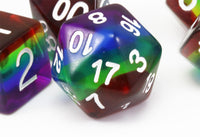 Rainbow Translucent D&D Dice 3