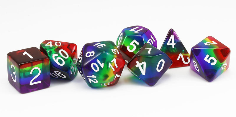Rainbow Translucent D&D Dice 2