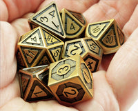 Antique brass assassin dice 3