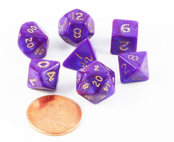 mini dice otherworld purple