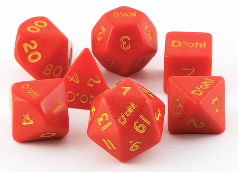 D'oh! Dice Opaque Red