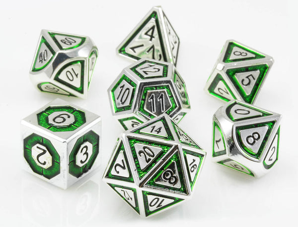 Assassin RPG Dice Silver Green