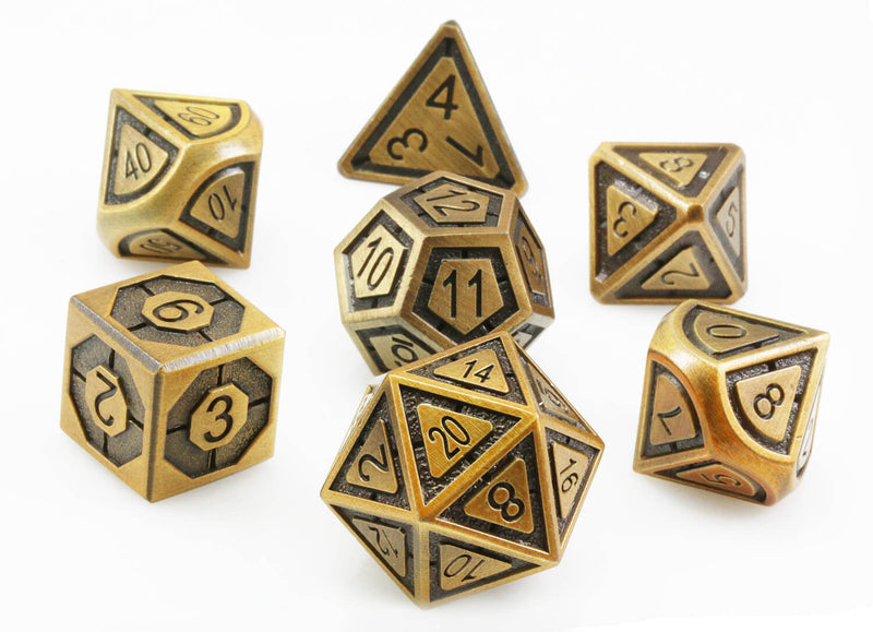 Antique brass assassin dice