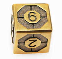 Antique brass assassin dice 4