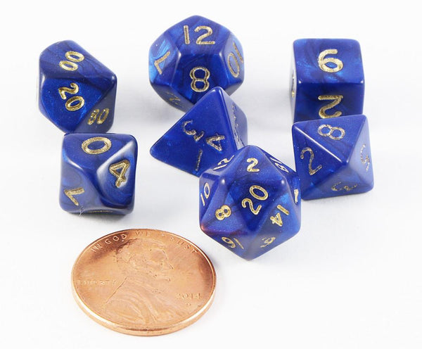 mini dice otherworld blue