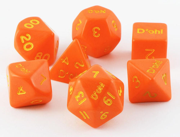 D'oh! Dice Opaque Orange