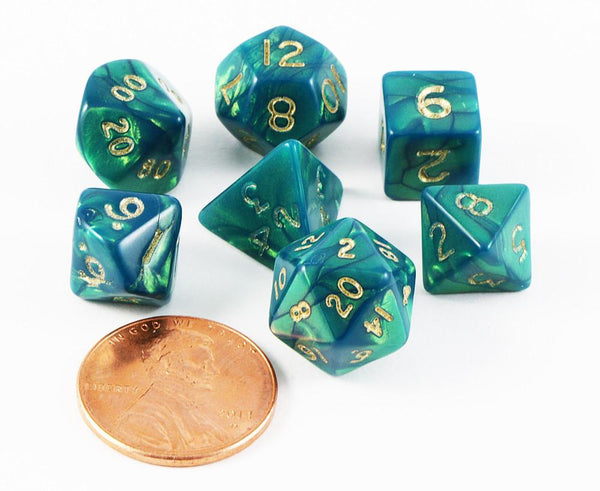 mini dice otherworld green