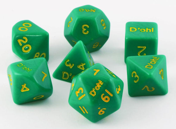 D'oh! Dice Opaque Green