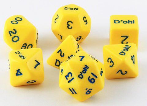 D'oh! Dice Opaque Yellow