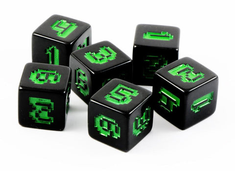 8-Bit Dice Monochrome