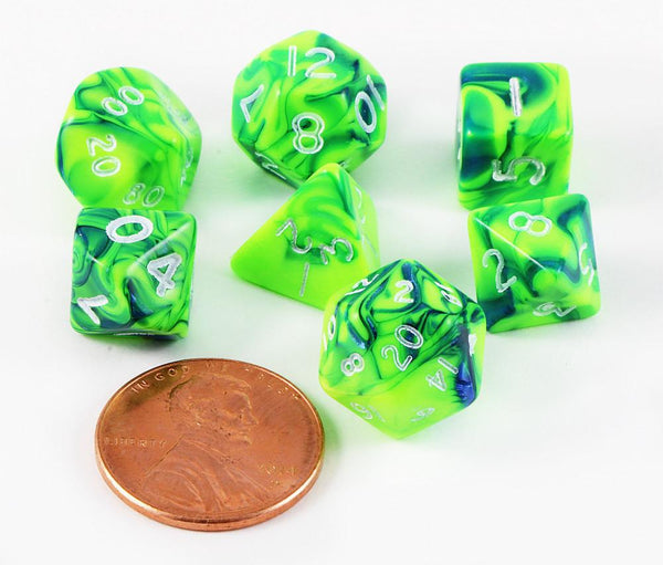 Mini Dice Toxic Green Blue