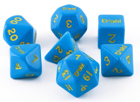 D'oh! Dice Opaque Blue