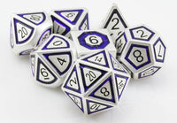 Assassin Dice Indigo Silver 2
