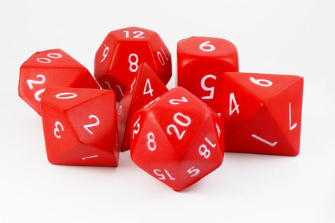 Giant Foam RPG Dice Red