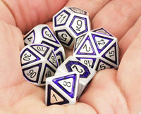 Assassin Dice Indigo Silver 3
