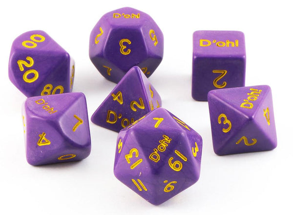 D'oh! Dice Opaque Purple