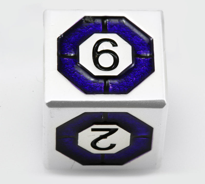 Assassin Dice Indigo Silver 4