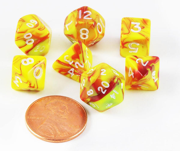 Mini Dice Toxic Yellow Red