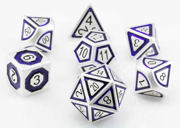 Assassin Dice Indigo Silver