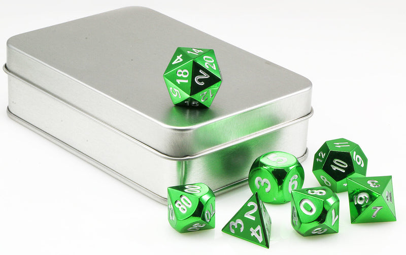 Aluminum dice electroplated green 3