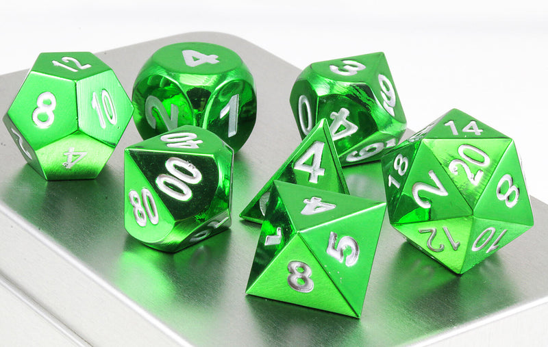 Aluminum dice electroplated green 2