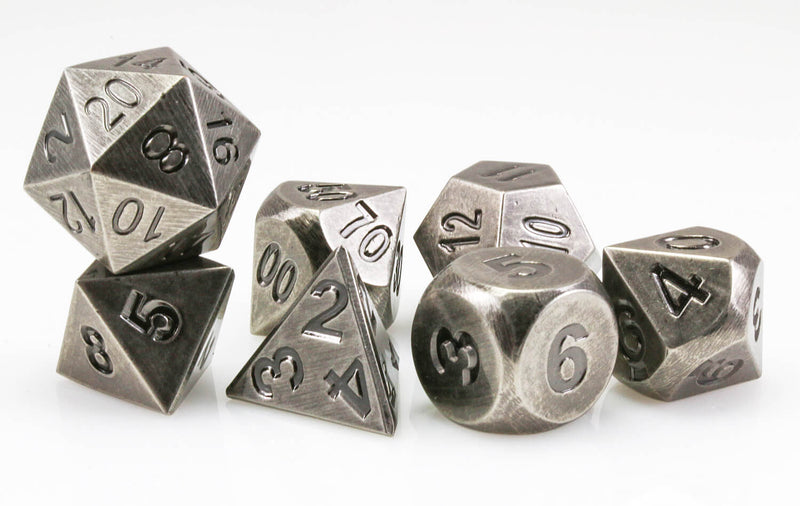 Aluminum Dice Antique Nickel