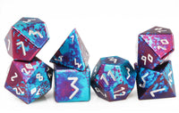 Aluminum D&D Dice Blue Purple