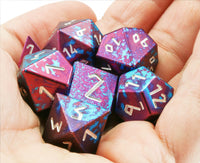 Aluminum D&D Dice Blue Purple 2