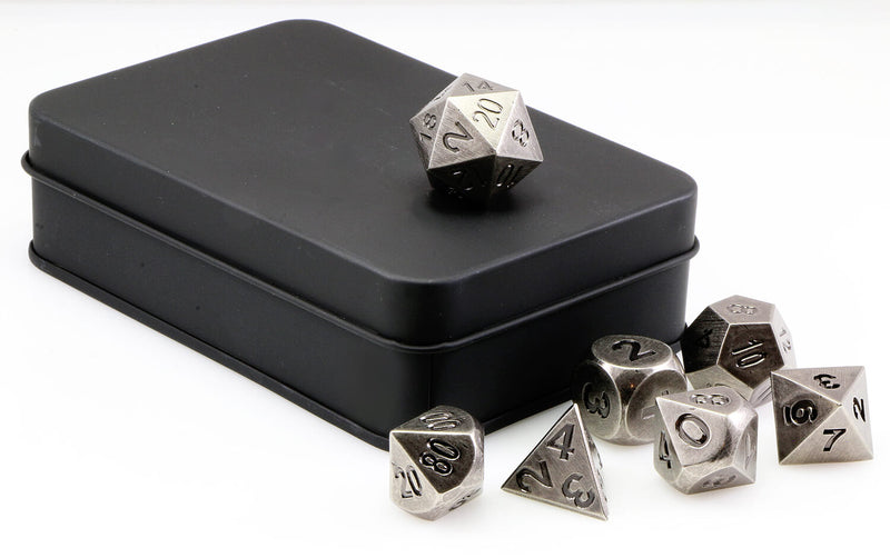 Aluminum Dice Antique Nickel 3