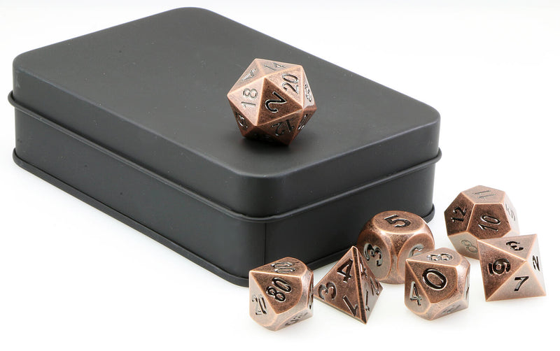 Aluminium Dice Antique Copper 3
