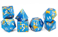 Aluminum D&D Dice Blue Gold
