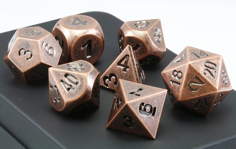 Aluminium Dice Antique Copper 2