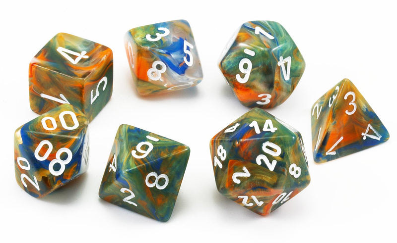 Chessex Lab Dice Autumn White