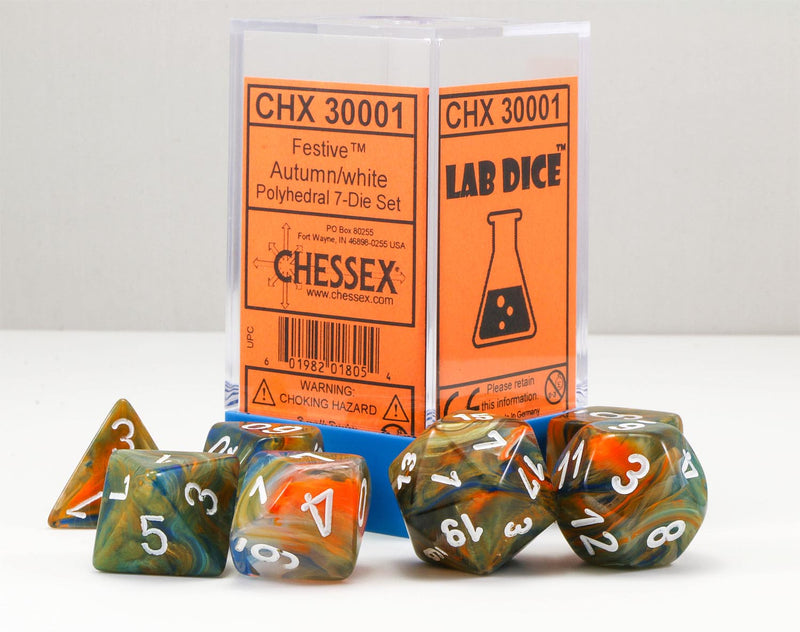 Chessex Lab Dice Autumn