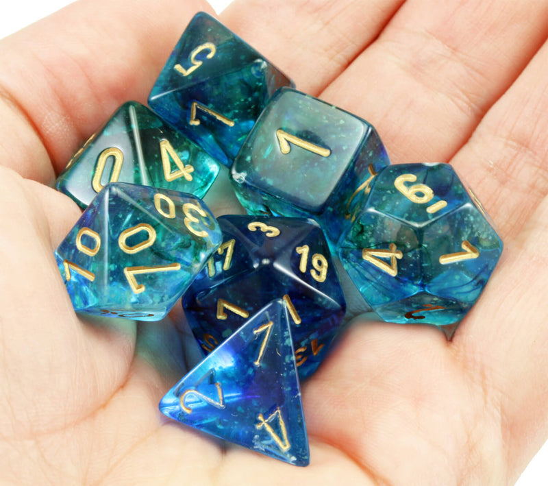Chessex Lab Dice II Nebula Oceanic 5