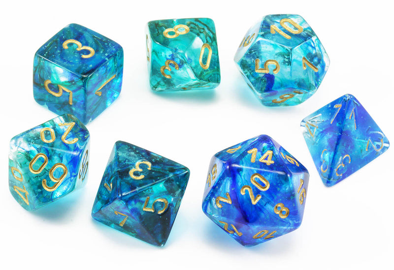 Chessex Lab Dice II Nebula Oceanic 2