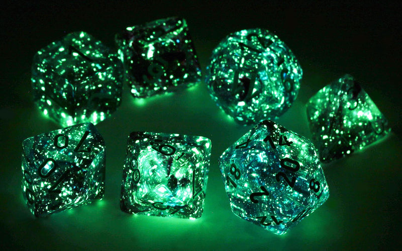Nebula Glow in the dark dice