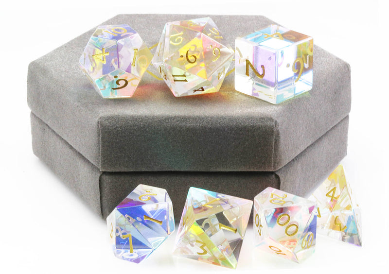 Dichroic Glass Dice Rainbow 3